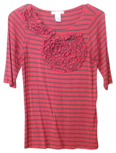 Design History Top Coral and Gray