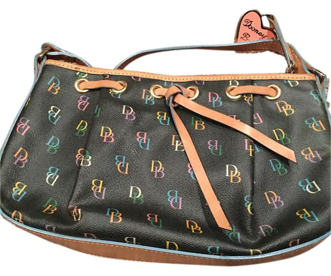 Dooney & Bourke Black Leather Shoulder Bag Dooney & Bourke Black Leather Shoulder Bag Image 1