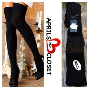 A.B.S. by Allen Schwartz ABS LUXURIOUS BOOT SOCKS Tall Over the Knee Thigh Highs