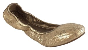 Tory Burch Gold/ Neutral Flats