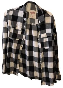 Mossimo Supply Co. Button Down Shirt black, white