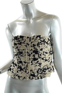 Carmen Marc Valvo Bustier Top Black & Tan