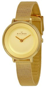 Skagen Denmark SKW2333 Ditte Gold Dial Gold Tone Stainless Women's Watch