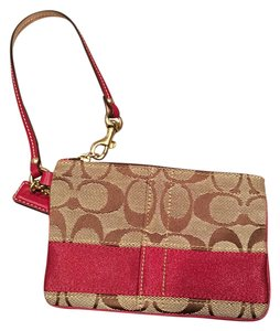 Coach Wristlet in Brown and Maroon
