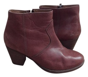 Madewell Leather Chunky Heel Brown Boots
