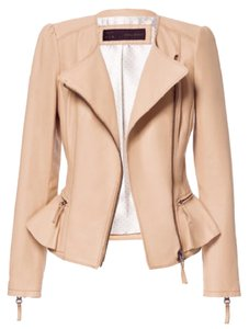 Zara Tan Leather Jacket