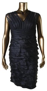 Adrianna Papell Pleat Metallic Dress