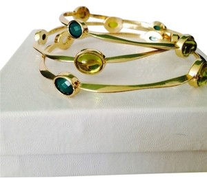 Amrita Singh 3, Cleopatra Shades Of Green Bangles Includes Matching Earrings