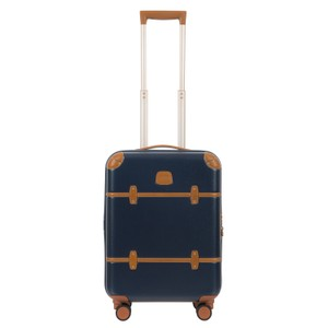 Bric's Luggage Carry On Leather Spinner Navy Travel Bag