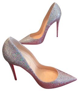 Christian Louboutin Silver Sparkle Pumps
