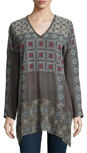 Johnny Was Geometric Embroidered Tunic