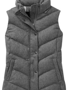 Gap Gray Tweed Puffy Vest Vest
