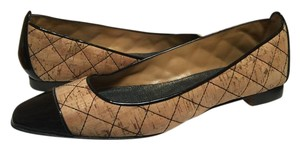 Manolo Blahnik Quilted Cork/patent Leather Flats
