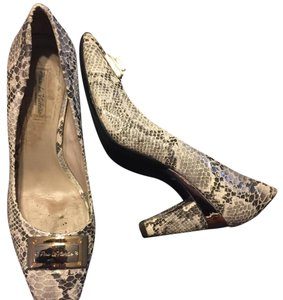 Pour La Victoire Grey/Black Multi with two tone adornment and silver around top of heel Pumps