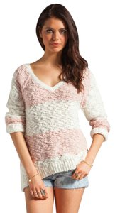 Free People V Neck Cotton Sweater