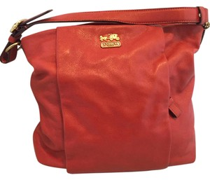 Coach Satchel in Dark Orange
