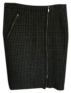 J.Crew Wool Skirt Houndstooth Blue