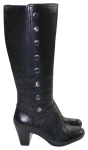 Clarks Studded Zipper Black Boots