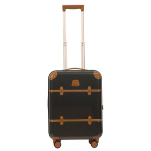 Bric's Luggage Spinner Leather Gray/Cognac Travel Bag