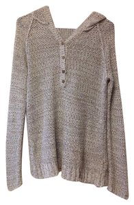 Free People Hooded Longsleeve V-neck Sweater