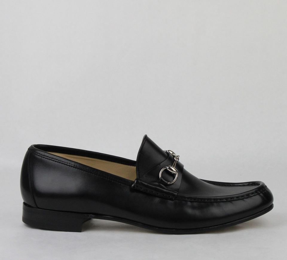 dacec10f7ff Gucci Black Horsebit Men s Leather Loafer W Silver 14.5d 015936 Shoes