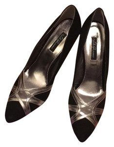 Lulu Guinness black / silver Pumps