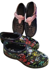 Sloggers Doggers Black and Pink Boots