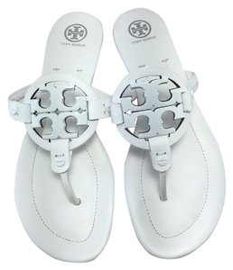 Tory Burch Miller Miller 2 Logo White Sandals