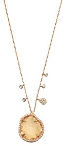 Meira T New Diamond, Geode & 14k Rose Gold Necklace