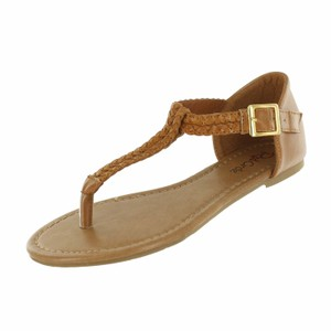 Red Circle Footwear Cognac Sandals