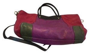 orYANY Tote in Block color Maroon,Purple,Green, Black handles