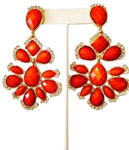 Amrita Singh Nello Faceted Orange Crystal Chandelier Earrings