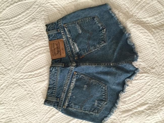 Levi's Distressed High-waisted Denim Shorts-Distressed
