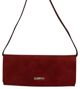 Longchamp burnt orange/red Clutch