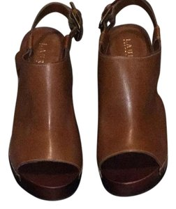 Ralph Lauren brown, tan Mules