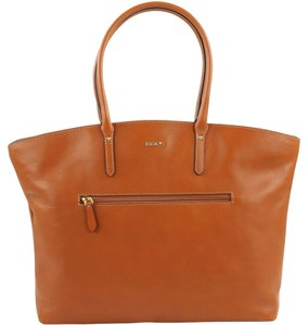 Bric's Leather Handbag Tote in Cognac