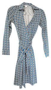 Diane von Furstenberg Wrap Geometric Work Night Out Dress