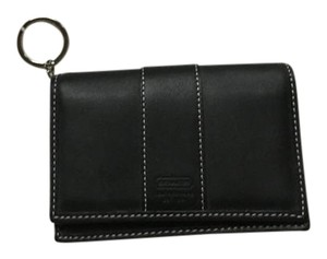 Coach New Coach Black Leather Multi Case Wallet With Key Chain