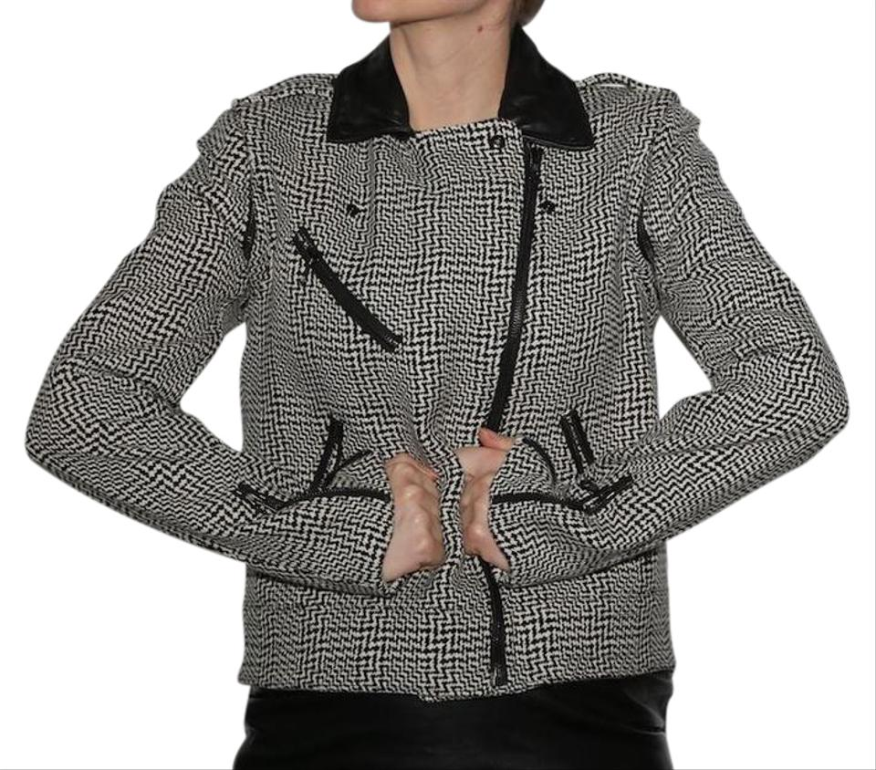 Pea Jacket Bowery White amp; Coat Tweed Bone Black Rag New 80Faw