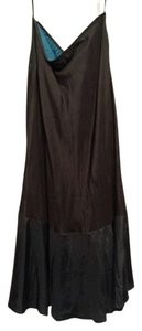 Sundance Silk Maxi Never Worn Maxi Skirt Black with Charcoal
