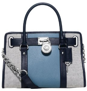 Michael Kors Limited Edition Two-tone Satchel in Blue/Sliver