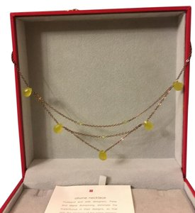 Red Envelope Red Envelope designer 14k gold vermeil necklace w/ semiprecious stones
