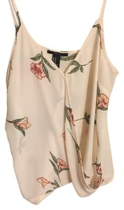 Forever 21 21 Top Cream floral