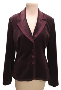 Hilton Hollis Velvet Satin Purple Blazer