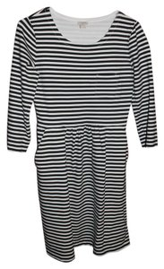 J.Crew short dress Black and White Striped Artsy Paris on Tradesy