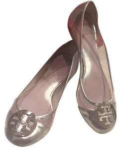 Tory Burch silver and clear Flats