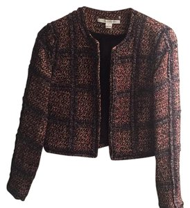 DVF Tweed Blazer pink red and black Tweed Blazer