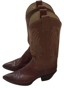 Justin Boots, Exotic Skins Light to medium brown Boots