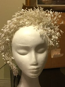 Flower Beaded Tiara Bridal Head Dress