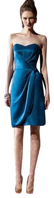 Dessy Ocean Blue 8101 Short Night Out Dress Size 8 (M) Dessy Ocean Blue 8101 Short Night Out Dress Size 8 (M) Image 1